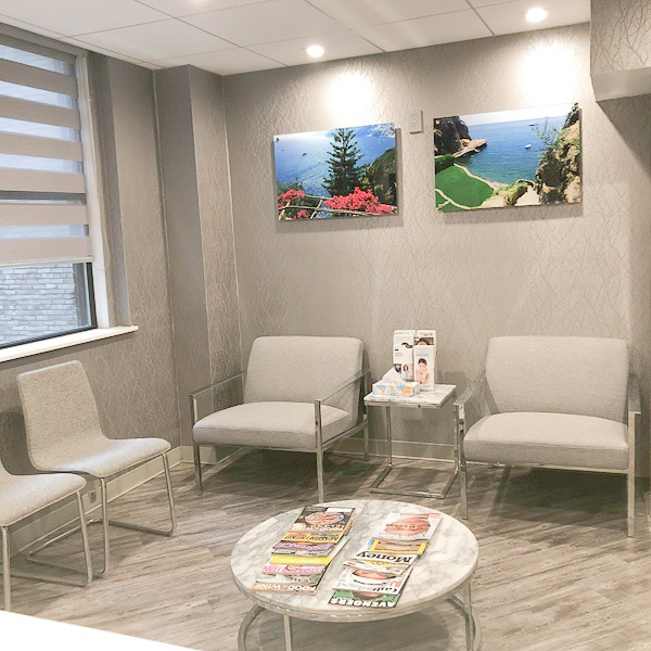 Lenox Hill dental office waiting room
